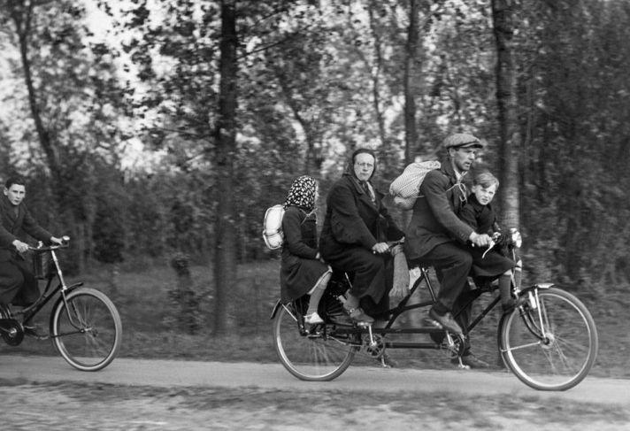 Belgische vluchtelingen in Frankrijk 14 juni 1940