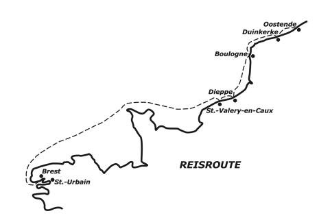 reisroute Dasseville