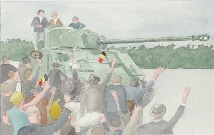 (c) Karel Dasseville - aquarel bevrijding