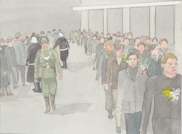 (c) Karel Dasseville - aquarel oostfronters