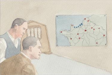 (c) Karel Dasseville - aquarel kaart