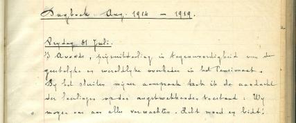 Dagboekfragment Louis Lindemans
