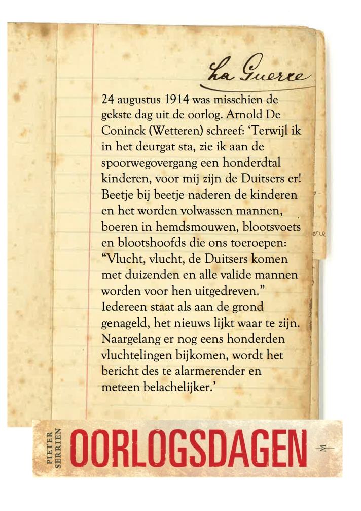 24 augustus 1914 - Oorlogsdagen 1