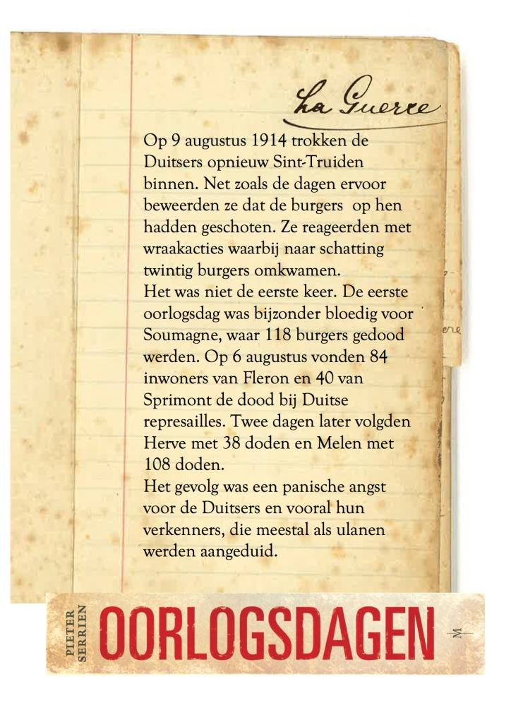 9 augustus 1914 - Oorlogsdagen 1