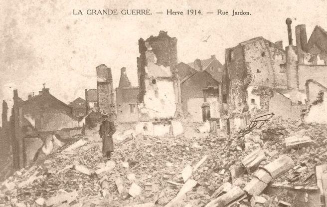 Herve na de Duitse represailles begin augustus 1914
