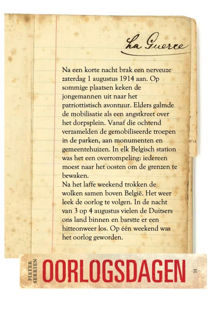 zwben weekend 1914 - Oorlogsdagen 1