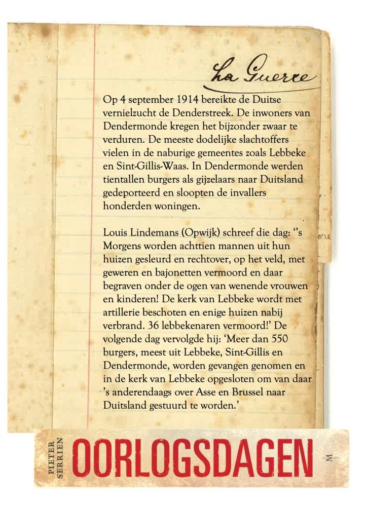 4 september 1914 - Oorlogsdagen 1