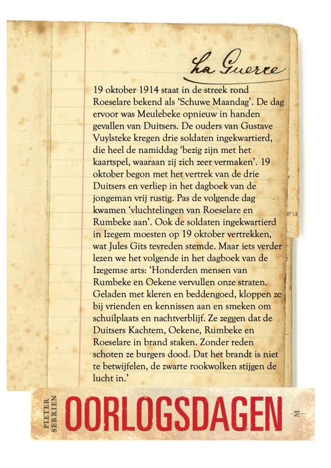 19 oktober 1914 - Oorlogsdagen 1