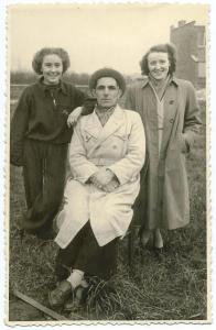 Eugeen Van Nuffel met dochter en vrouw