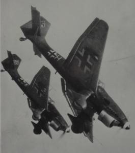 Duitse Stuka's in actie