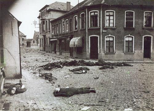 25 mei: Deinze, slachtoffers artilleriebeschieting