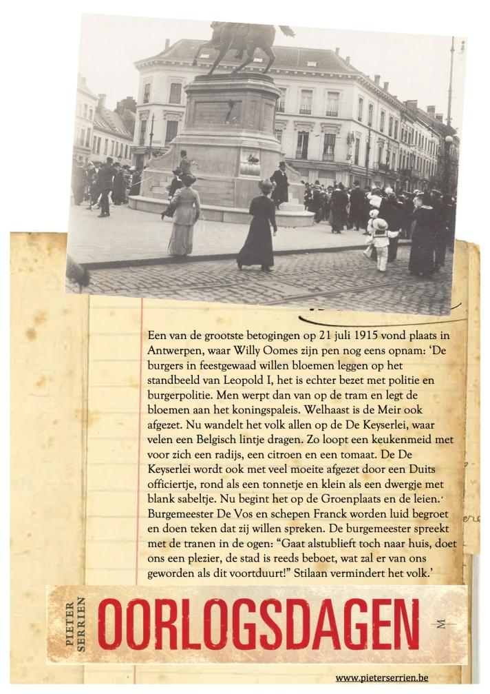 21 juli 1915 Protestzomer - Oorlogsdagen 1