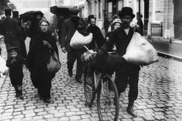 Belgische asielzoekers in 1914