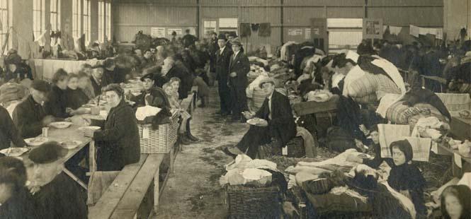 Vluchtelingen Rotterdam 1914