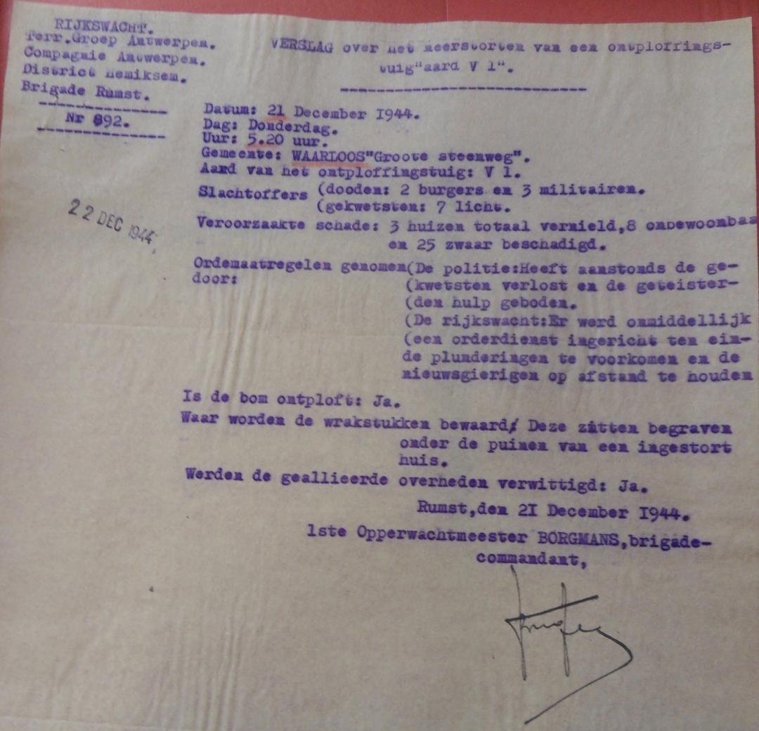 Het geheime politieverslag van de inslag.