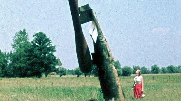 Een neergestorte V1 nabij het Nederlandse Deventer.