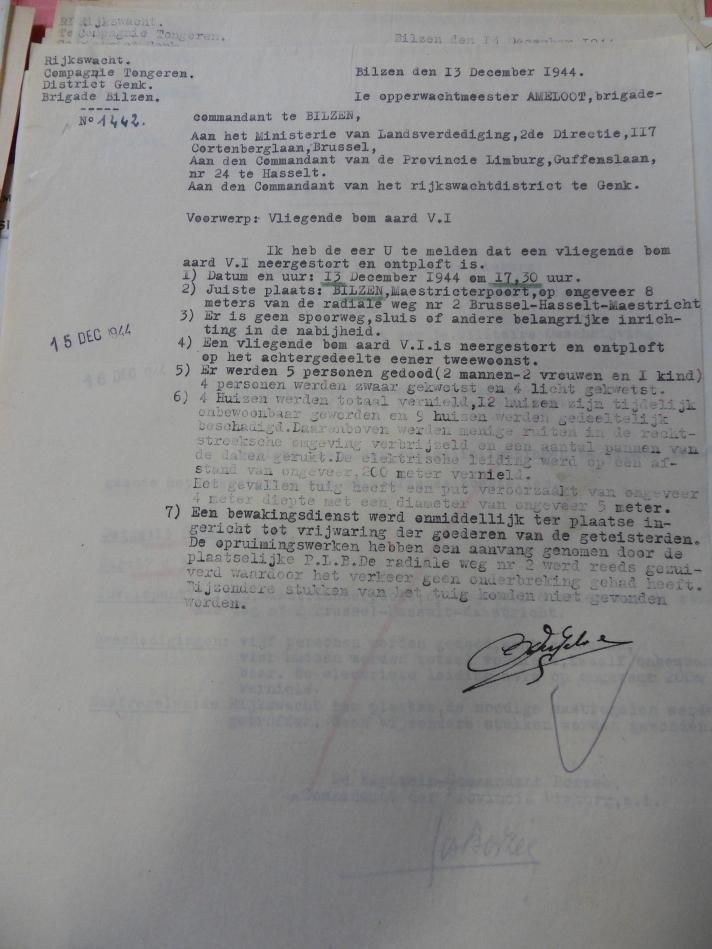 Geheim verslag in het Militair Archief van Evere