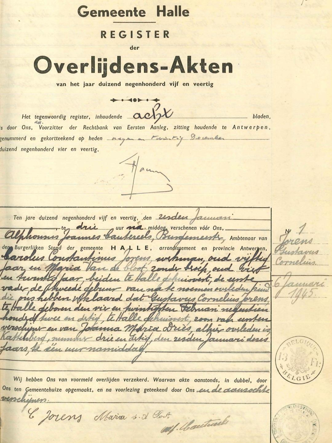 6-januari-1945-halle-kattenberg-overlijdingsakte