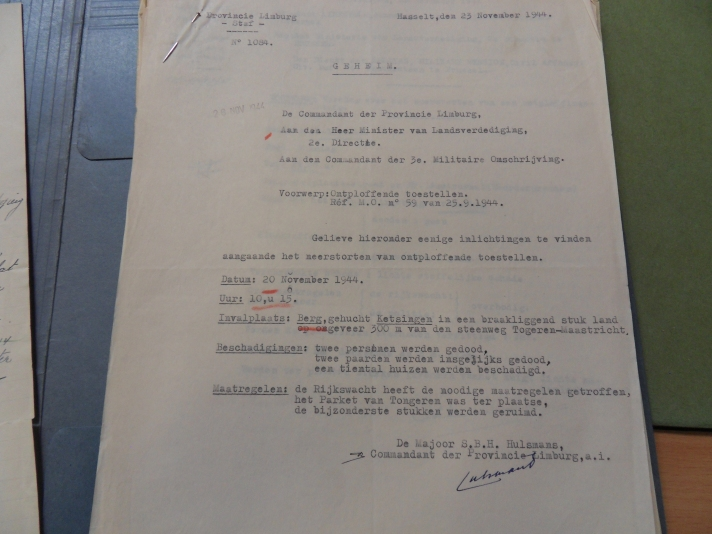 Geheim verslag uit Militair Archief Evere