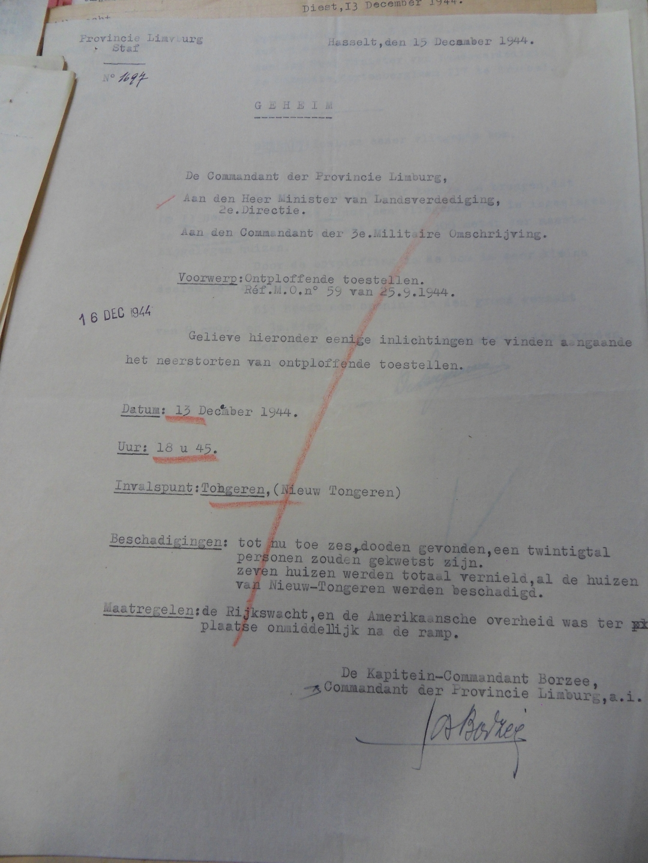 Geheim verslag uit het Militair Archief Evere