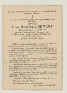 DE WOLF Frans